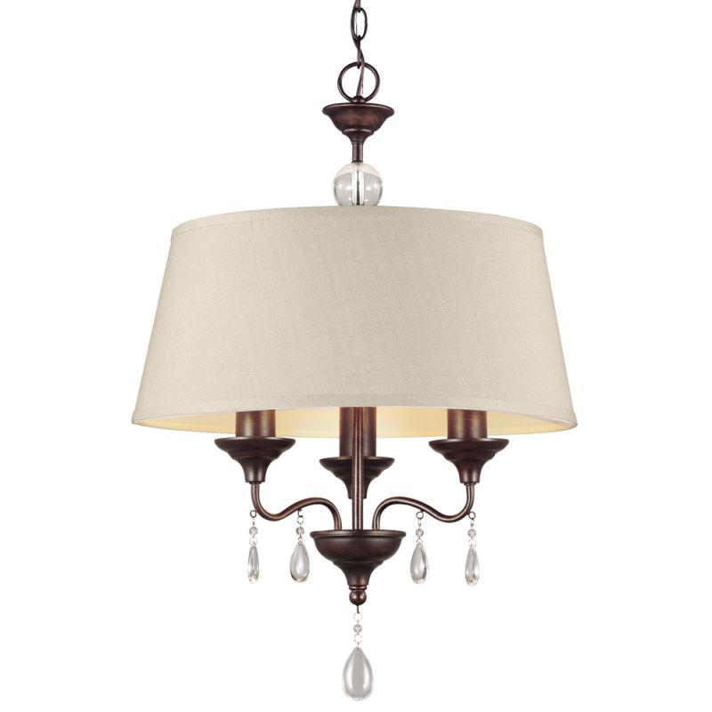 Sea Gull Lighting 3110503 West Town 3 Light 1 Tier Drum Chandelier