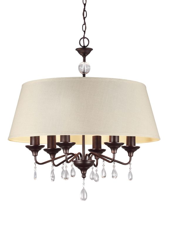 Sea Gull Lighting 3110506 West Town 6 Light 1 Tier Drum Chandelier