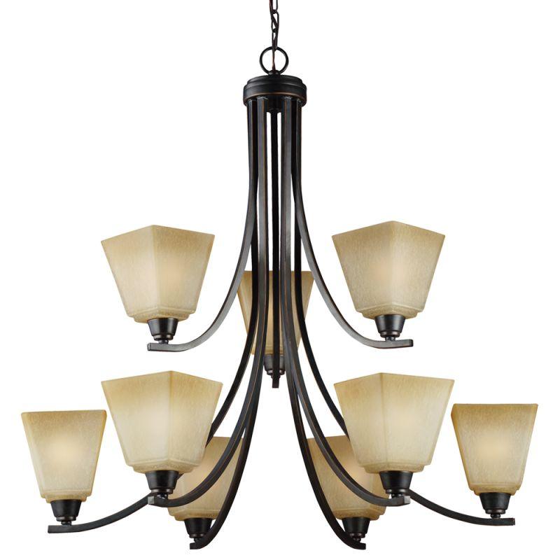 Sea Gull Lighting 3113009 Parkfield 9 Light 2 Tier Chandelier Flemish