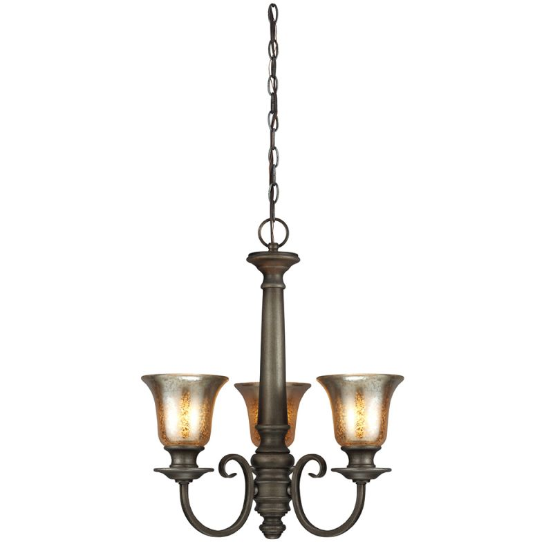 Sea Gull Lighting 3170403 Blayne 3 Light 1 Tier Chandelier Platinum