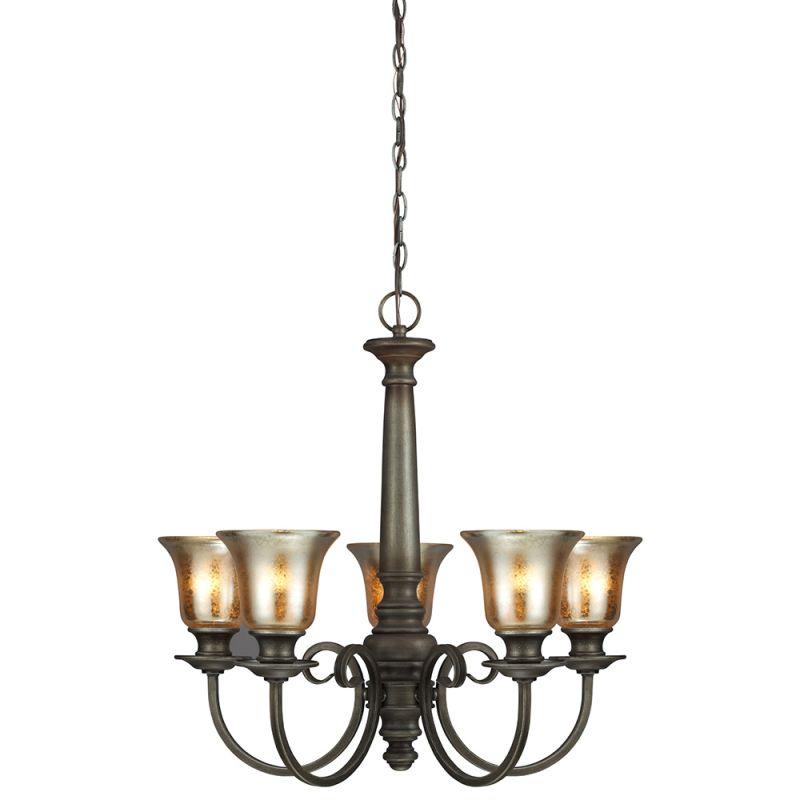 Sea Gull Lighting 3170405 Blayne 5 Light 1 Tier Chandelier Platinum