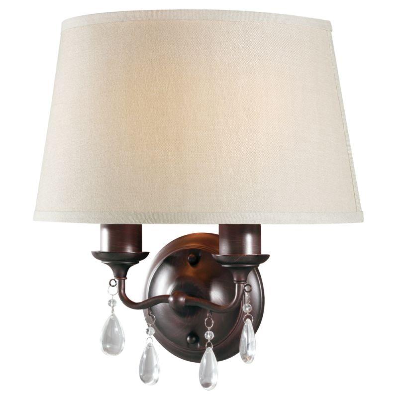 """Sea Gull Lighting 4110502BLE West Town 2 Light 14.75"""" Wide Energy Star"""