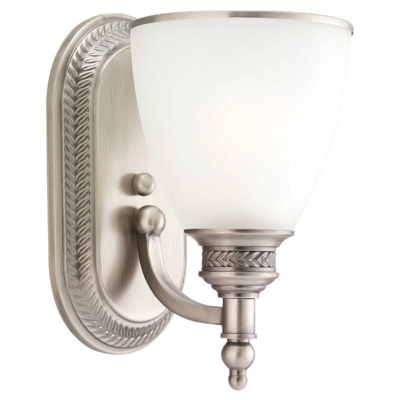 Sea Gull Lighting 41350 Laurel Leaf 1 Light Bathroom Sconce Antique