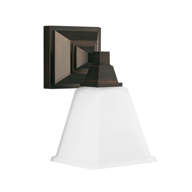 Sea Gull Lighting 4150401 Denhelm 1 Light Bathroom Sconce Burnt Sienna
