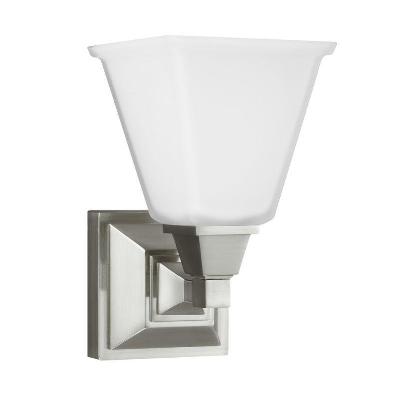 Sea Gull Lighting 4150401 Denhelm 1 Light Bathroom Sconce Brushed