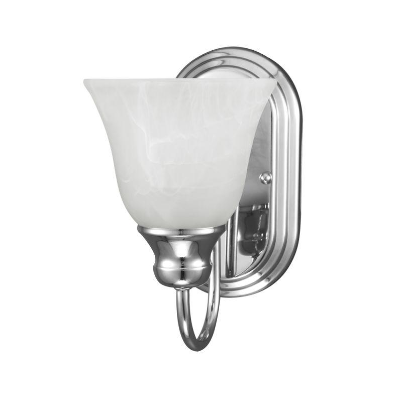 Sea Gull Lighting 41939 Windgate 1 Light Bathroom Sconce Chrome Indoor