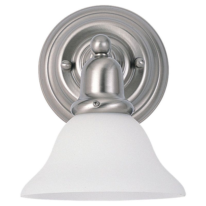 Sea Gull Lighting 44060 Sussex 1 Light Bathroom Sconce Brushed Nickel