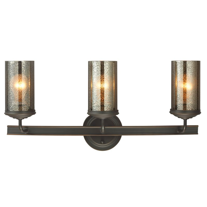 Mercury Glass Vanity Light Shade : Sea Gull Lighting 4410403-715 Autumn Bronze Sfera 3 Light Bathroom Vanity Light with Mercury ...