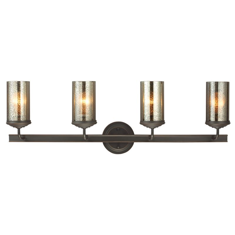 Mercury Glass Vanity Light Shade : Sea Gull Lighting 4410404BLE-715 Autumn Bronze Sfera 4 Light Energy Star Bathroom Vanity Light ...