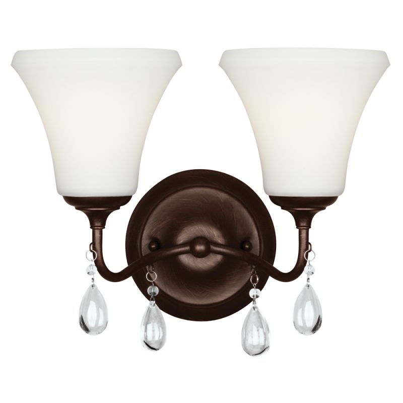 "Sea Gull Lighting 4410502 West Town 2 Light 13.25"" Wide Reversible"