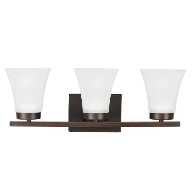 Sea Gull Lighting 4411603 Bayfield 3 Light Bathroom Vanity Light Burnt Sale $90.10 ITEM: bci2665977 ID#:4411603-710 UPC: 785652273612 :