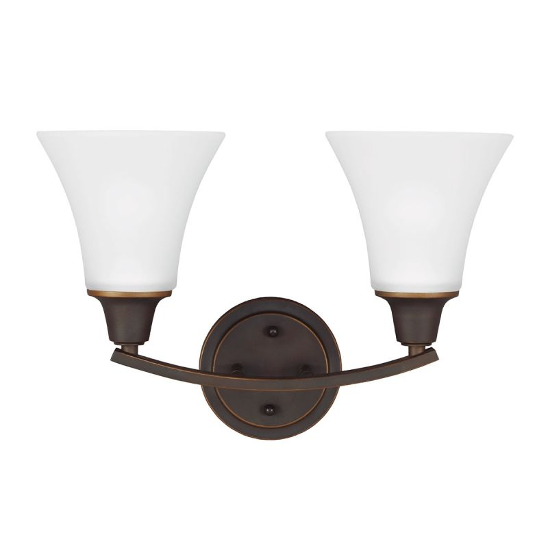 Sea Gull Lighting 4413202 Metcalf 2 Light Bathroom Vanity Light Autumn Sale $74.80 ITEM: bci2666000 ID#:4413202-715 UPC: 785652275128 :