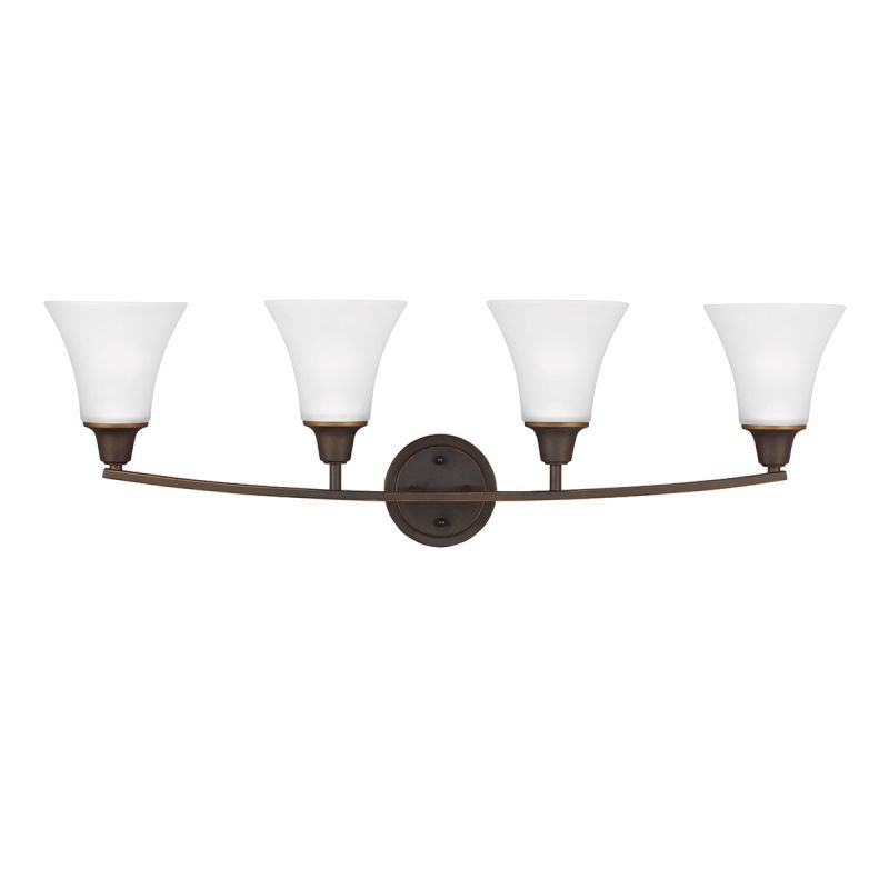 Sea Gull Lighting 4413204 Metcalf 4 Light Bathroom Vanity Light Autumn Sale $134.30 ITEM: bci2665663 ID#:4413204-715 UPC: 785652275142 :