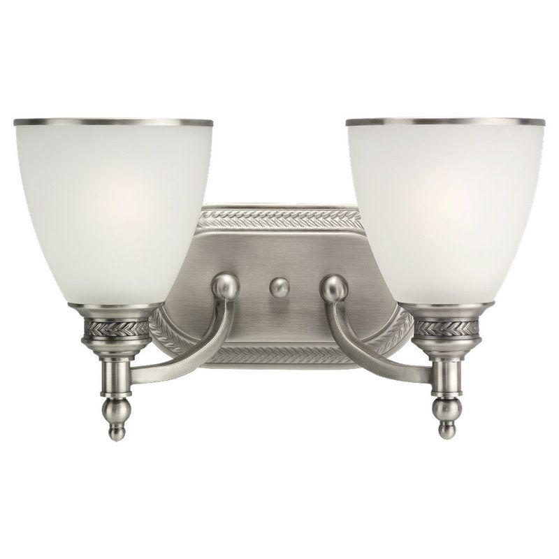 Sea Gull Lighting 44350 Laurel Leaf 2 Light Bathroom Vanity Light