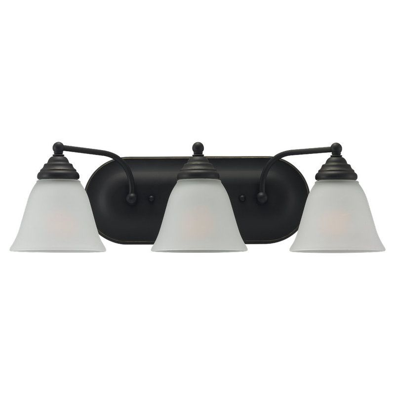 Sea Gull Lighting 44577 Albany 3 Light Bathroom Vanity Light Heirloom