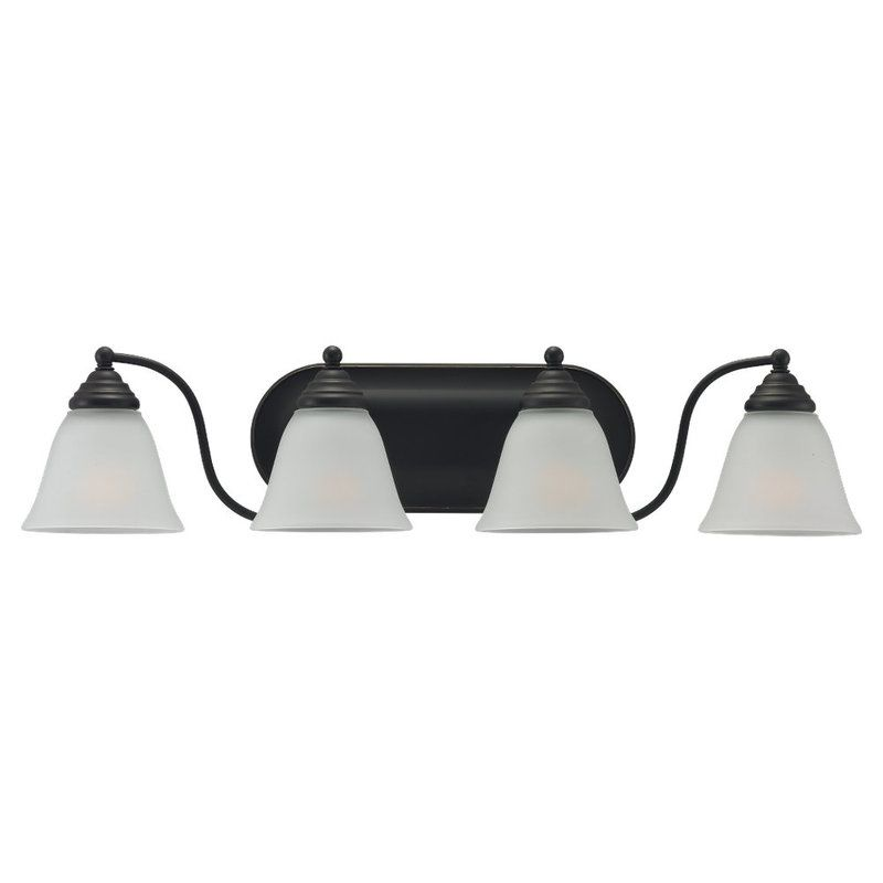 Sea Gull Lighting 44578 Albany 4 Light Bathroom Vanity Light Heirloom