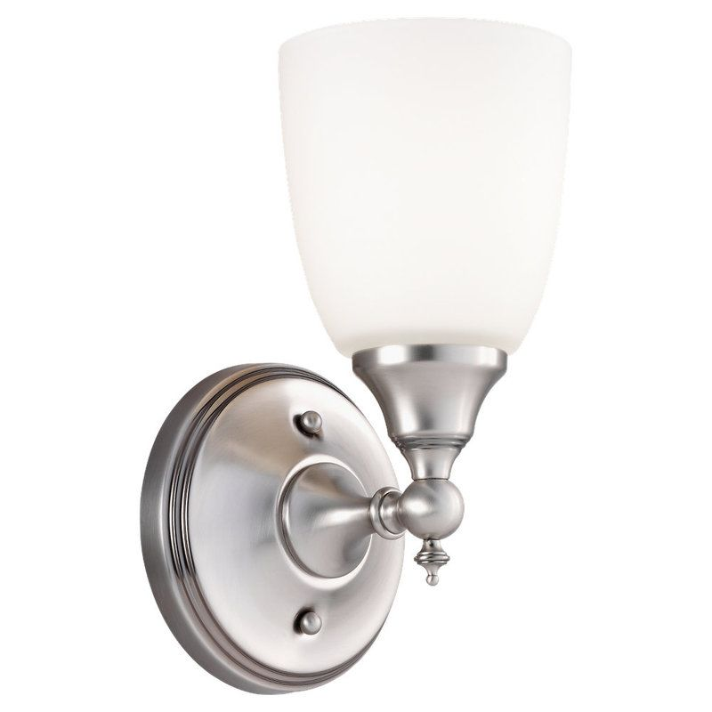 Sea Gull Lighting 44615 Finitude 1 Light Bathroom Sconce Antique