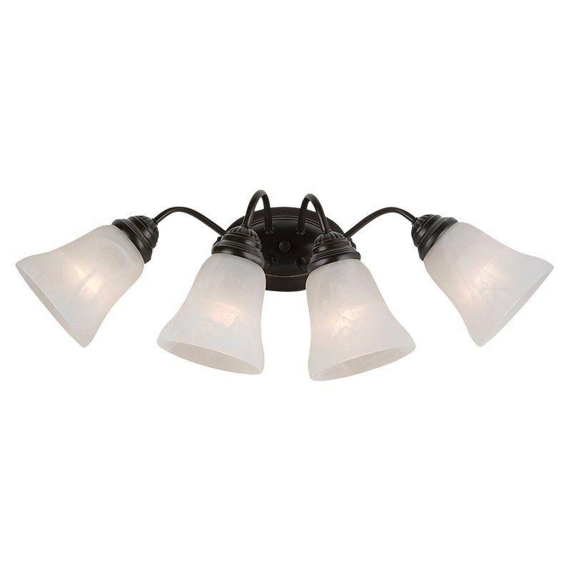 Sea Gull Lighting 44763 Oaklyn 4 Light Bathroom Vanity Light Heirloom