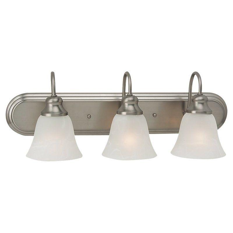 Sea Gull Lighting 44941 Windgate 3 Light Bathroom Vanity Light Brushed