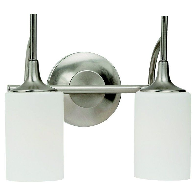 Sea Gull Lighting 44953 Stirling 2 Light Bathroom Vanity Light Brushed
