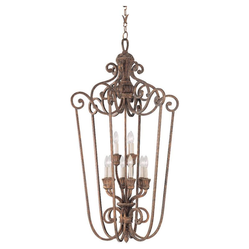 Sea Gull Lighting 51257 Highlands 9 Light Large Pendant Regal Bronze