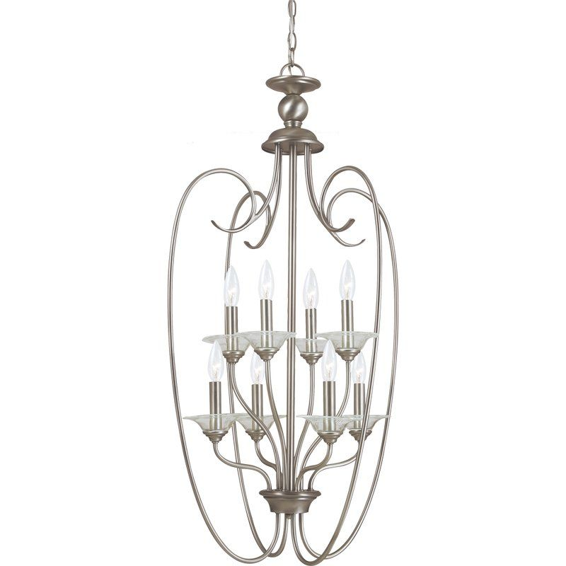 Sea Gull Lighting 51317 Lemont 8 Light Full Sized Pendant Antique