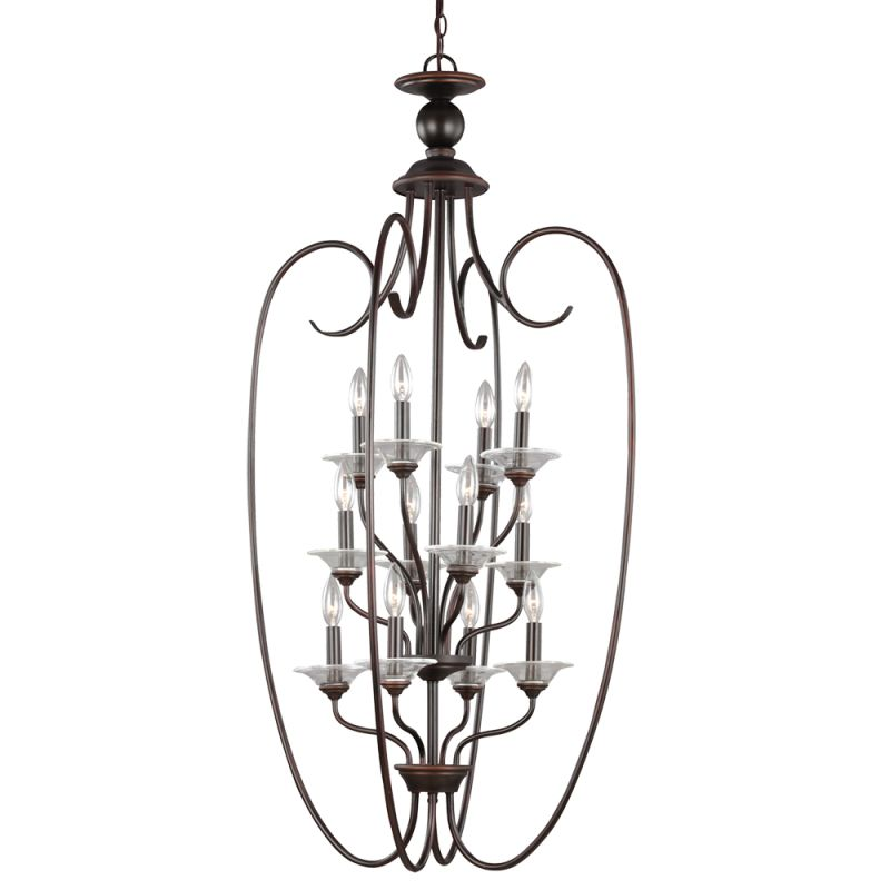 Sea Gull Lighting 51318 Lemont 12 Light Large Pendant Burnt Sienna Sale $598.00 ITEM: bci2665706 ID#:51318-710 UPC: 785652258497 :