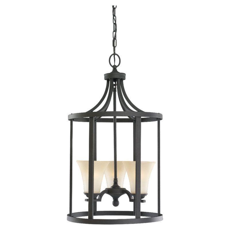 Sea Gull Lighting 51375 Somerton 3 Light Full Sized Pendant Blacksmith