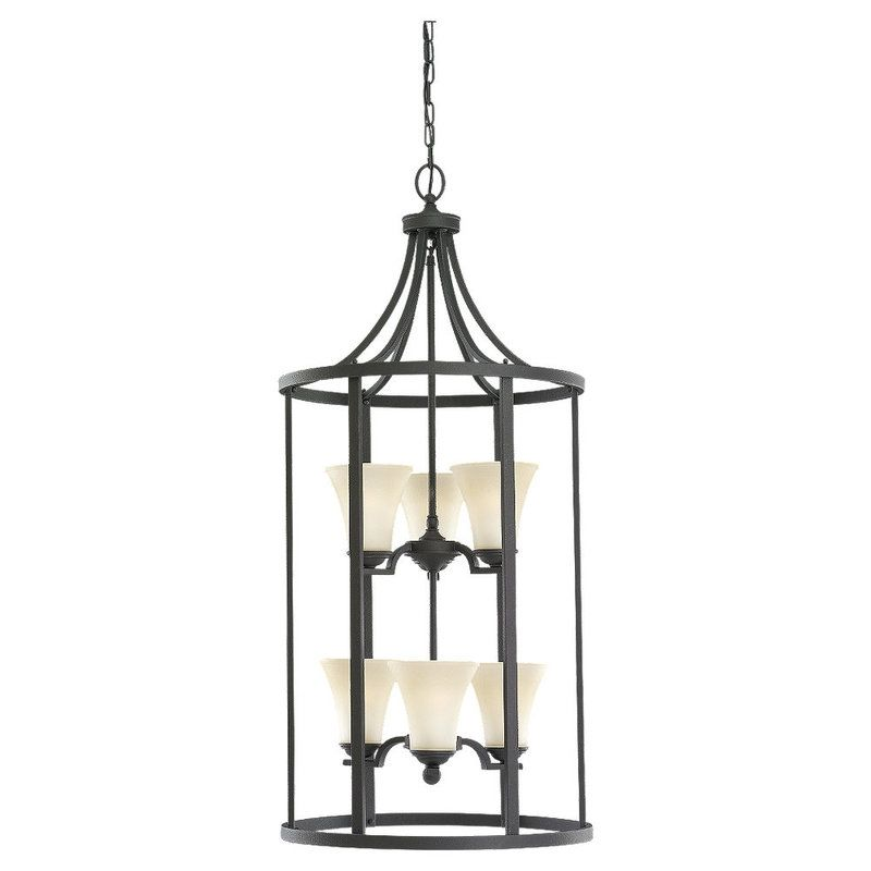 Sea Gull Lighting 51376 Somerton 6 Light Cage Pendant Blacksmith Sale $645.80 ITEM: bci530035 ID#:51376-839 UPC: 785652513718 :