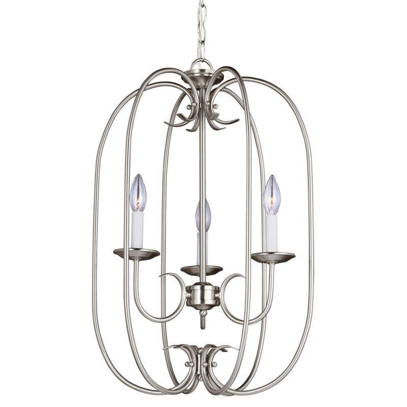 Sea Gull Lighting 51806 Holman 3 Light Full Sized Pendant Brushed