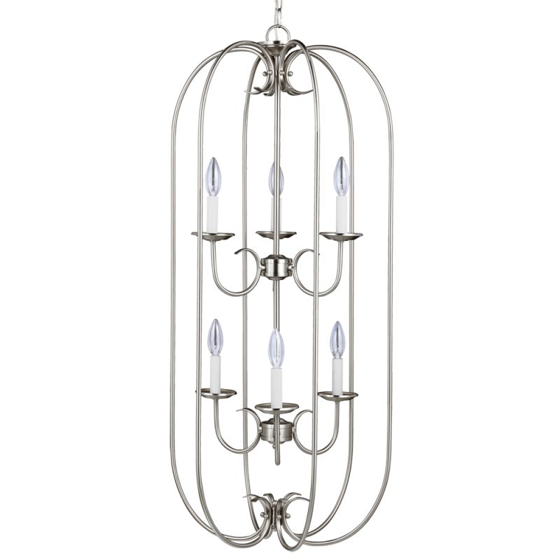 Sea Gull Lighting 51807 Holman 6 Light Full Sized Pendant Brushed