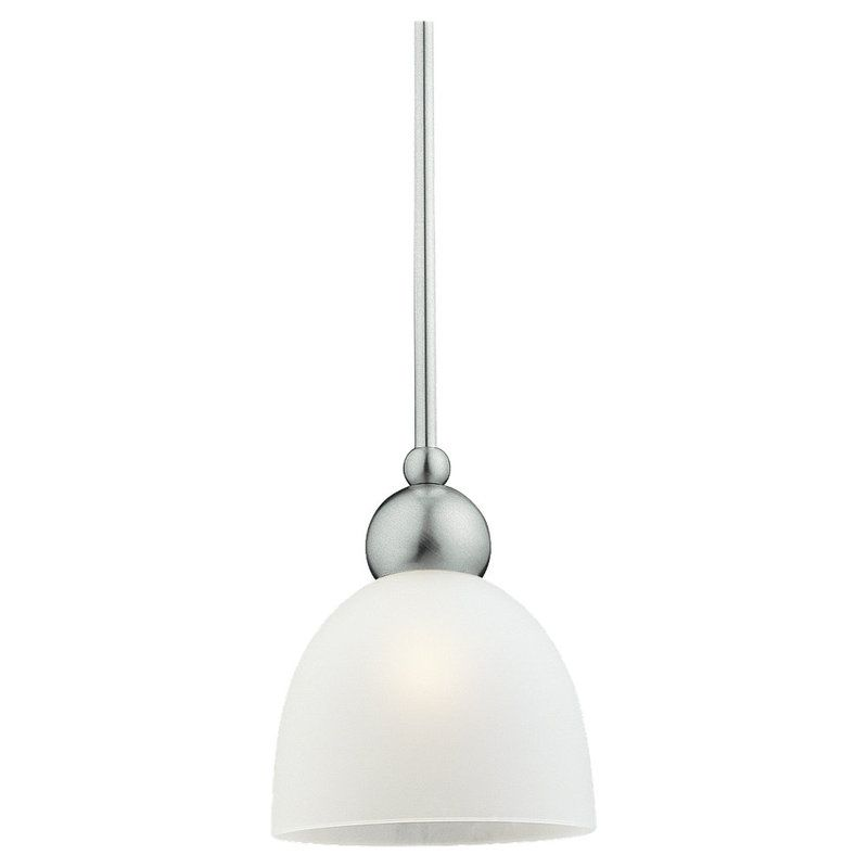 Sea Gull Lighting 61035 Metropolis 1 Light Mini Pendant Brushed Nickel