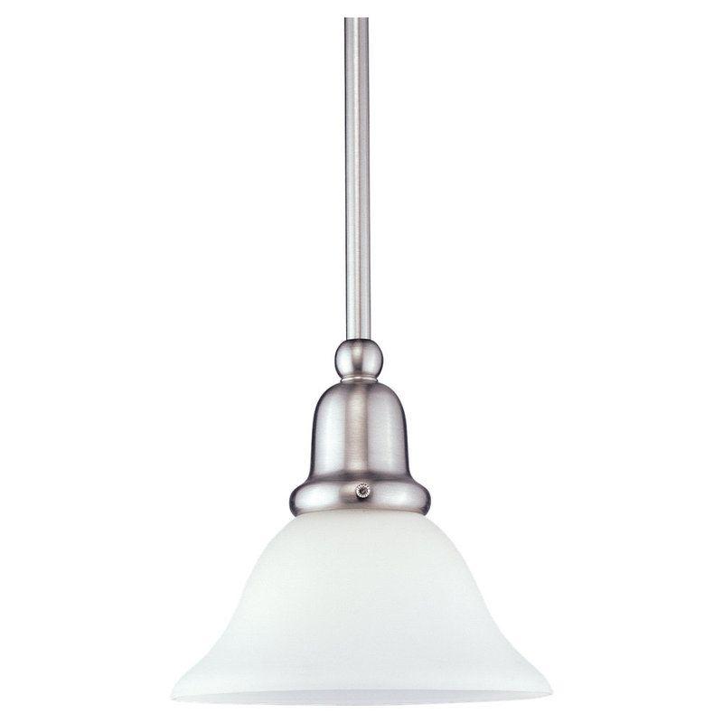 Sea Gull Lighting 61060 Sussex 1 Light Mini Pendant Brushed Nickel