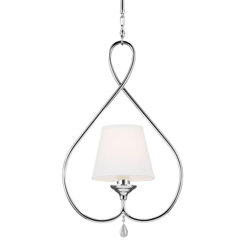 Sea Gull Lighting 6110501 West Town 1 Light Full Sized Pendant Chrome