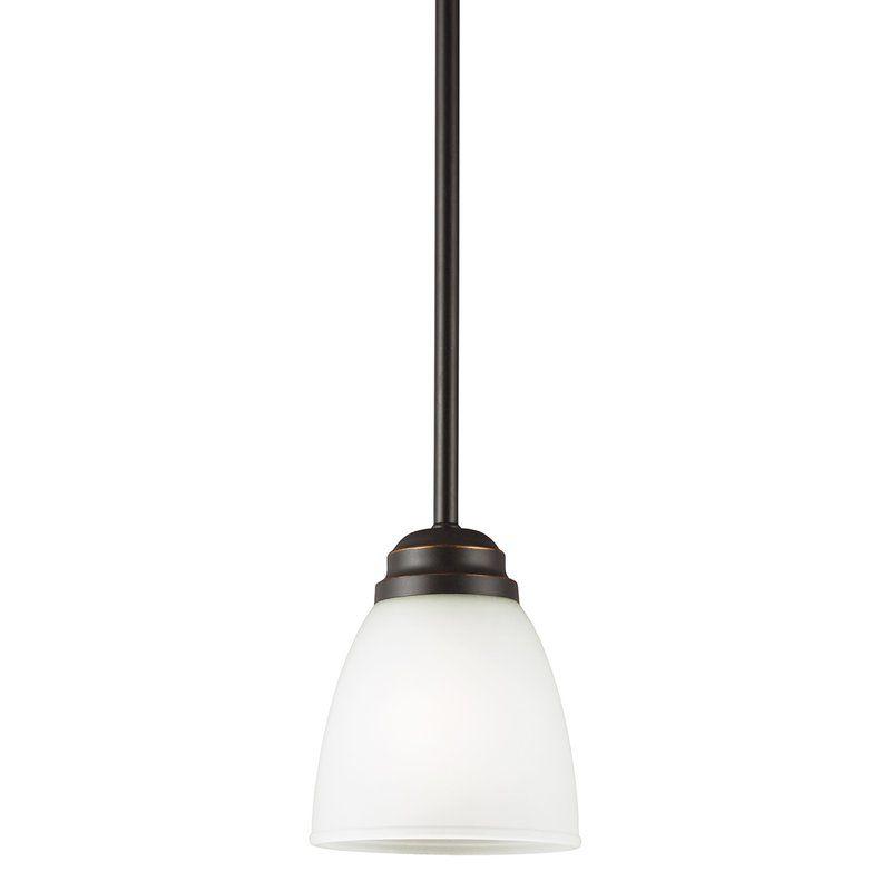 Sea Gull Lighting 6112401 Northbrook 1 Light Mini Pendant Roman Bronze