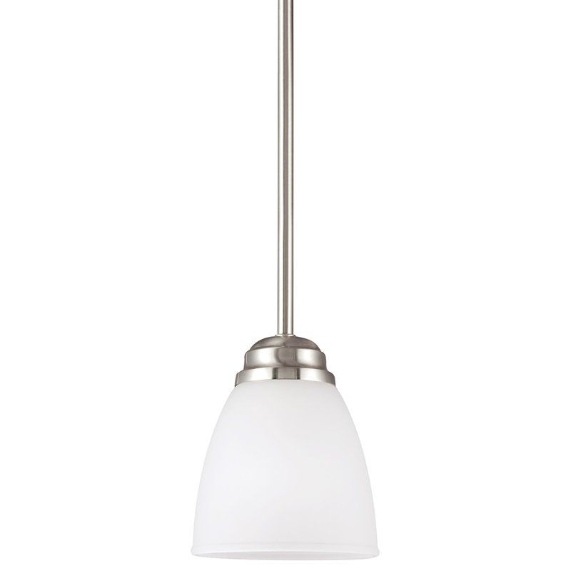 Sea Gull Lighting 6112401 Northbrook 1 Light Mini Pendant Brushed