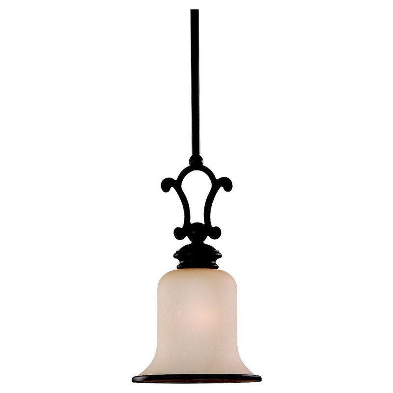 Sea Gull Lighting 61145 Acadia 1 Light Mini Pendant Misted Bronze