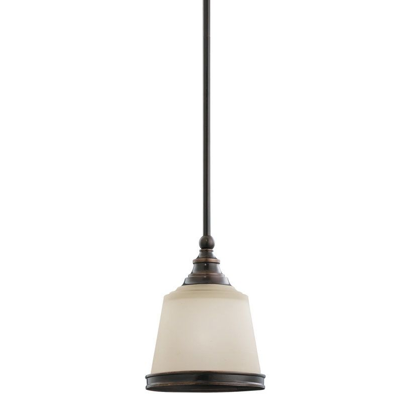 Sea Gull Lighting 61330 Warwick 1 Light Mini Pendant Autumn Bronze