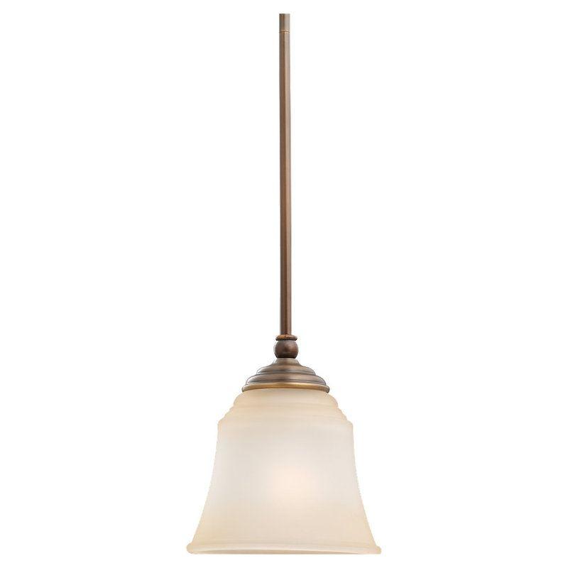 Sea Gull Lighting 61380 Parkview 1 Light Mini Pendant Russet Bronze