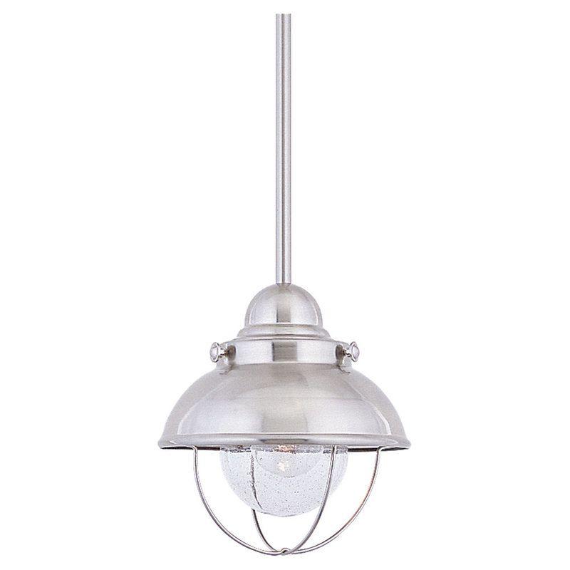 Sea Gull Lighting 6150 Sebring 1 Light Mini Pendant Brushed Stainless