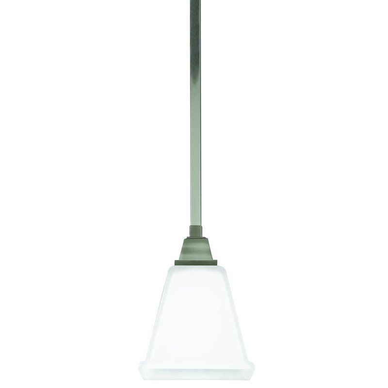 Sea Gull Lighting 6150401 Denhelm 1 Light Mini Pendant Brushed Nickel