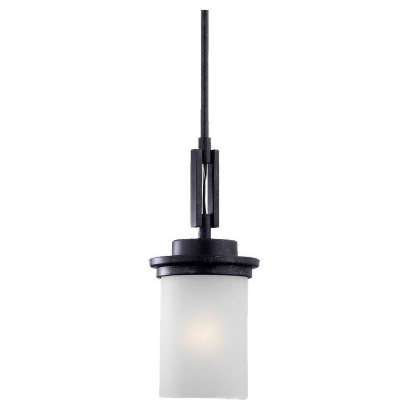 Sea Gull Lighting 61660 Winnetka 1 Light Mini Pendant Blacksmith
