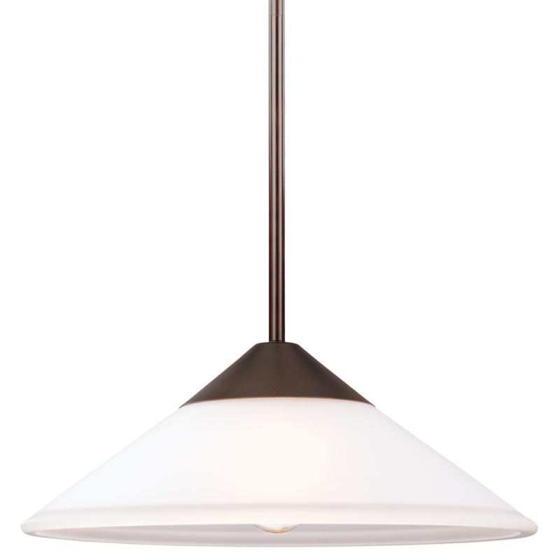 Sea Gull Lighting 6511201 Ashburne 1 Light Full Sized Pendant Burnt