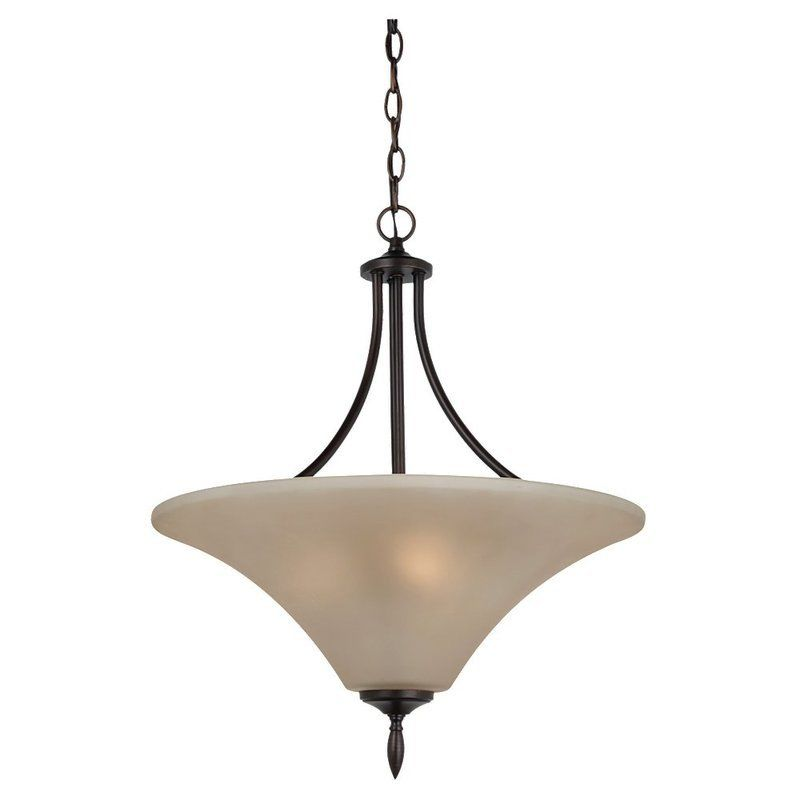Sea Gull Lighting 65181 Montreal 3 Light Bowl Shaped Pendant Burnt