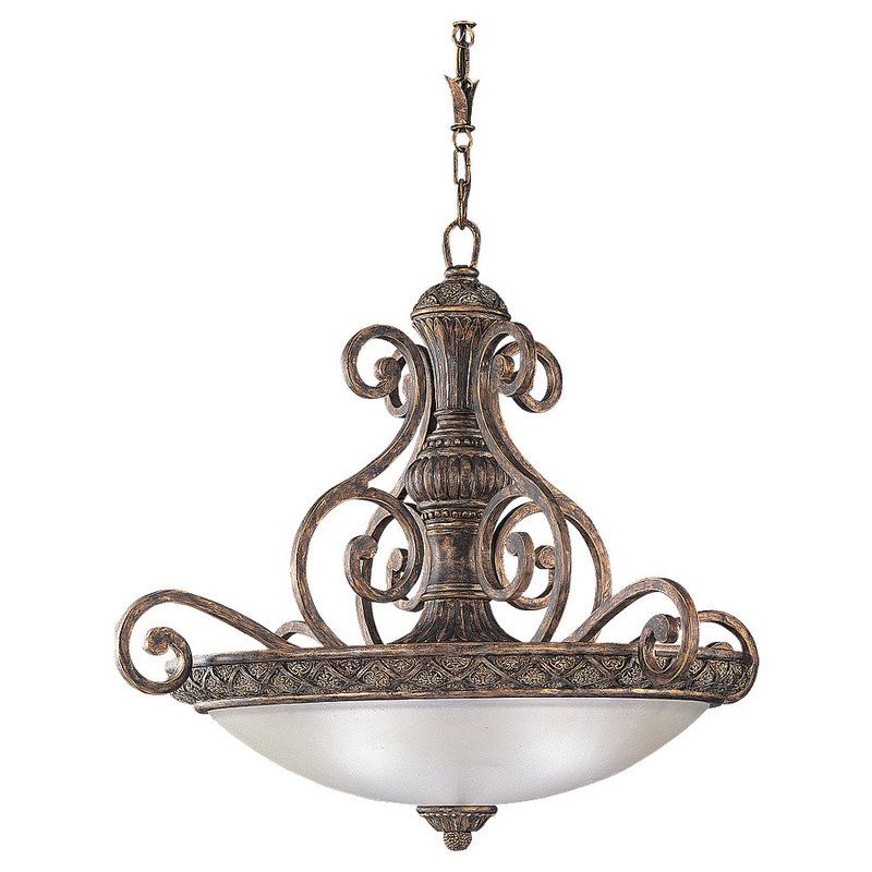 Sea Gull Lighting 65252 Highlands 3 Light Bowl Shaped Pendant Regal