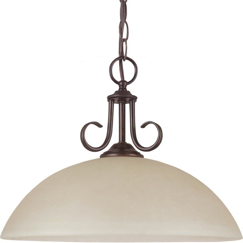 Sea Gull Lighting 65316 Lemont 1 Light Full Sized Pendant Burnt Sienna