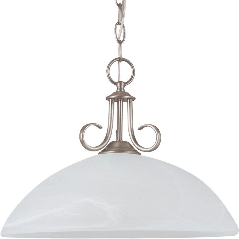 Sea Gull Lighting 65316 Lemont 1 Light Full Sized Pendant Antique