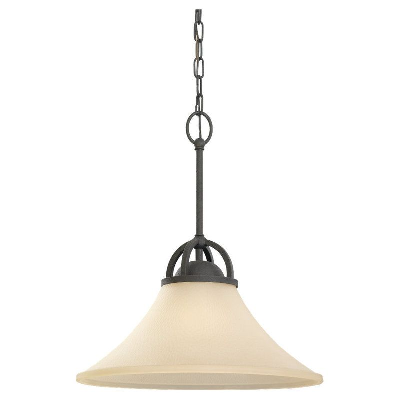 Sea Gull Lighting 65375 Somerton 1 Light Full Sized Pendant Blacksmith