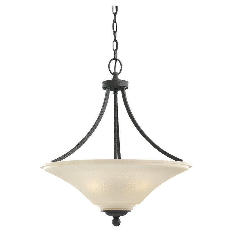 Sea Gull Lighting 65376 Somerton 3 Light Full Sized Pendant Blacksmith