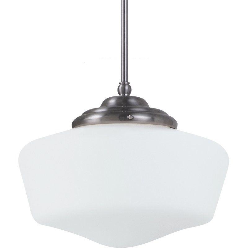 """Sea Gull Lighting 65437 Academy 1 Light 11.5"""" Diameter Full Sized"""